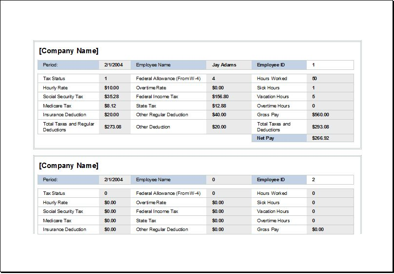 Employee Wages and Holiday Record Worksheet | Excel Templates