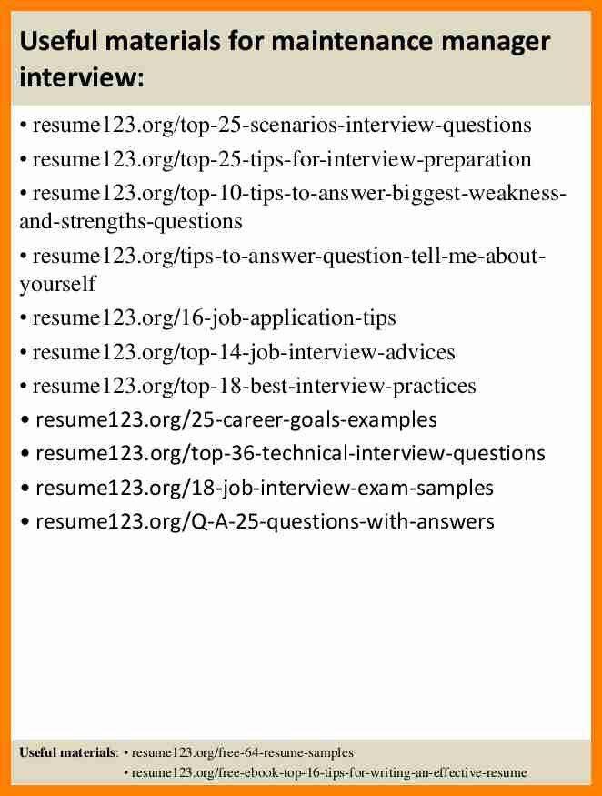 Maintenance Director Resume Sample - Contegri.com