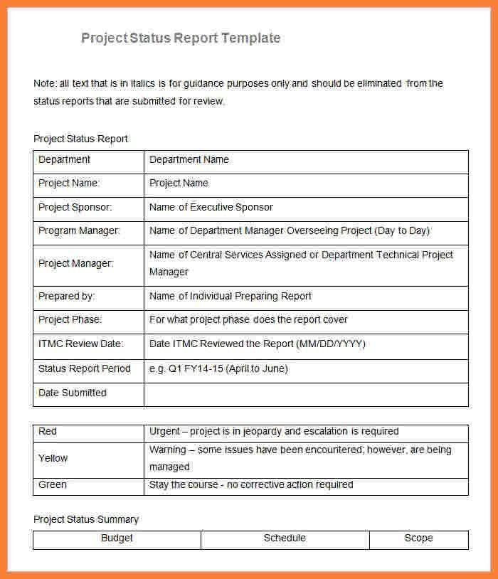 8+ sample project progress report template | Progress Report
