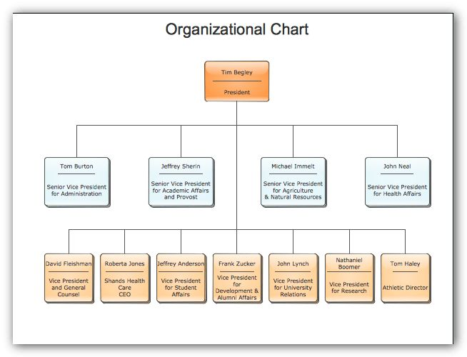 Sample organizational charts - our organizational chart software ...