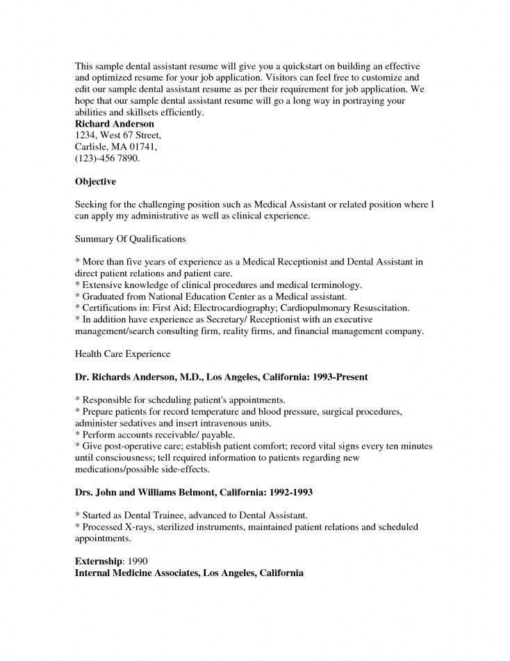 Resume For Medical Assistant Externship. cover letter sample for ...