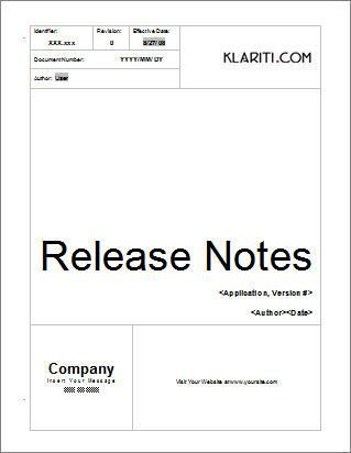 Release Notes   How to write Release Notes for Software Projects