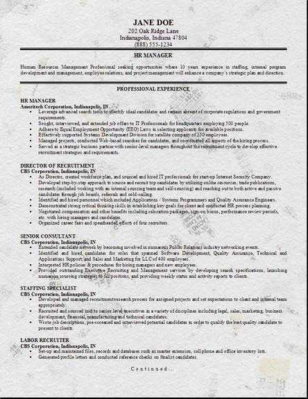 HR Management Resume, Occupational:examples, samples Free edit ...