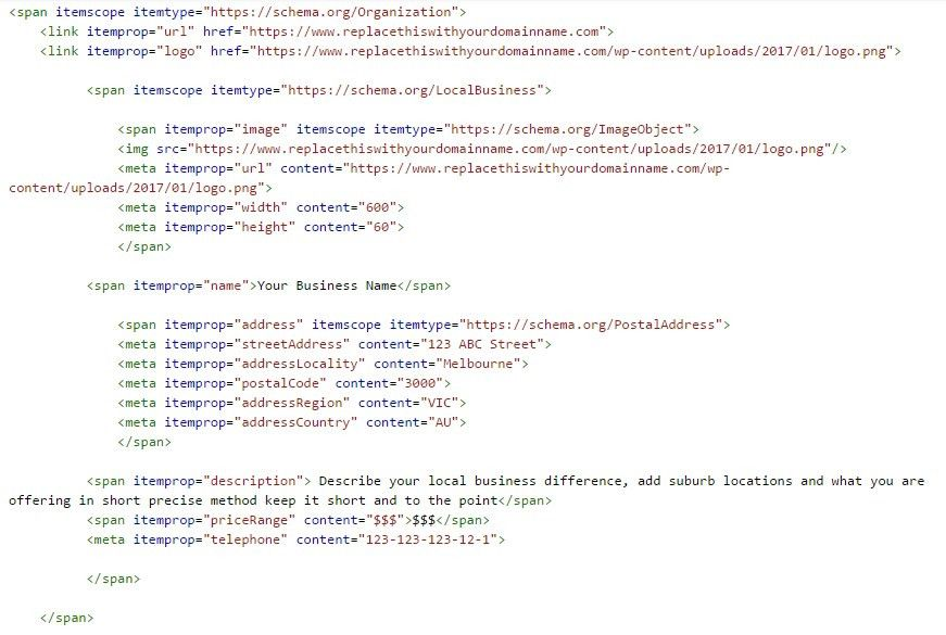 Local Business Structured Data Examples for Google