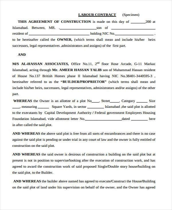 30 Sample Contract Agreement Forms