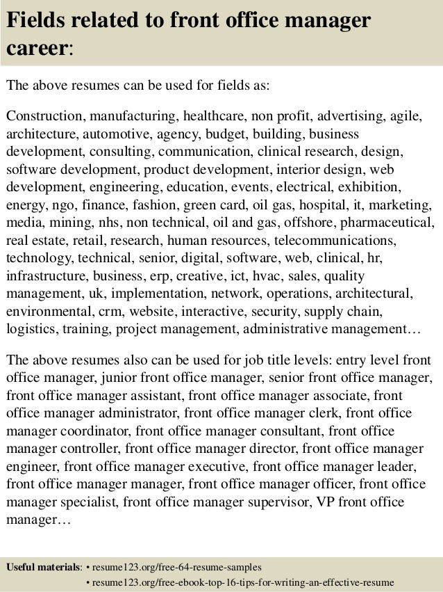 office manager resume examples office manager resume sample tips
