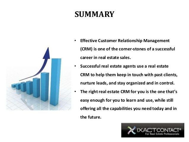 Customer Relationship Management (CRM) and The Real Estate Profession…