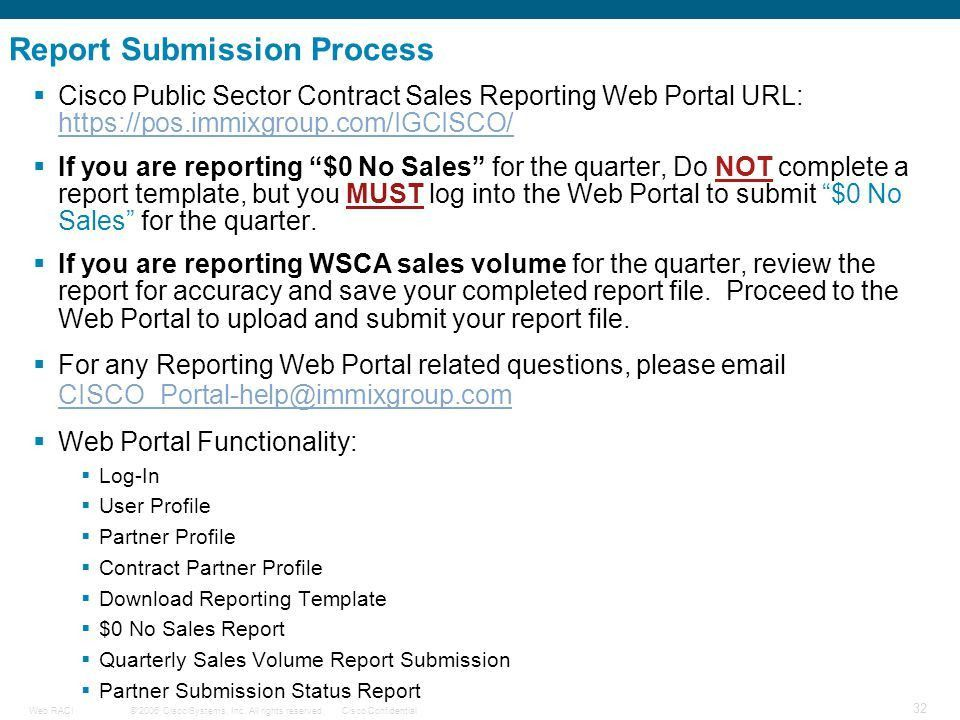WSCA Quarterly Sales Reporting Process - ppt download