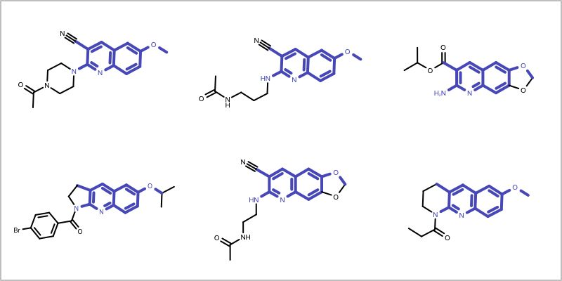 Finding Core Fragment of a Molecule Series — OpenEye Python ...