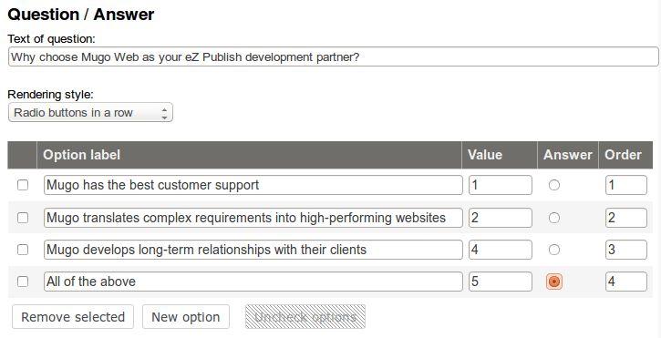 Building employee training quizzes with eZ Publish | Mugo Web | eZ ...