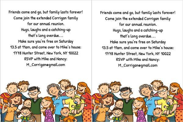 Family Reunion Invitation. Free Printable Family Reunion ...