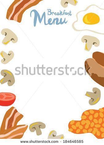 Breakfast Menu Template Stock Vector 184646603 - Shutterstock