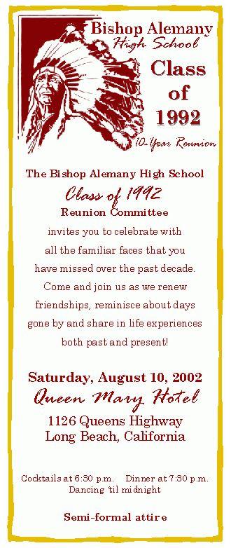 High School Class Reunion Planning, Reunions, Creative Reunions ...