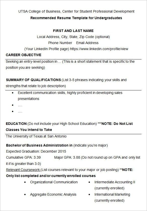 Download College Resume Builder | haadyaooverbayresort.com