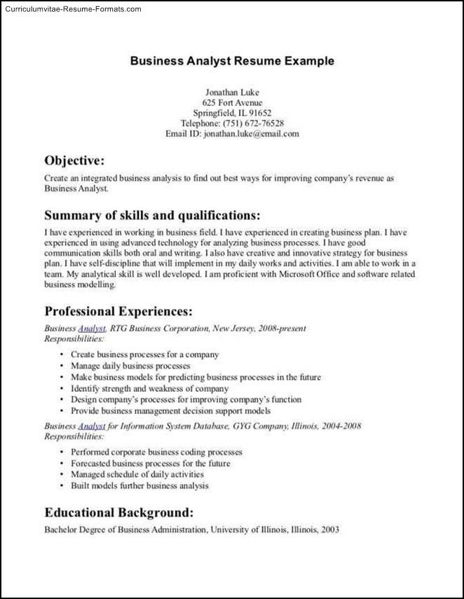 Examples Of Business Resumes. Professional Resume Sample - Http ...