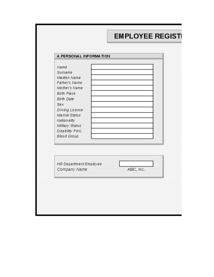 19+ Employee Information Form Template | Travel Request Vibe Micro ...