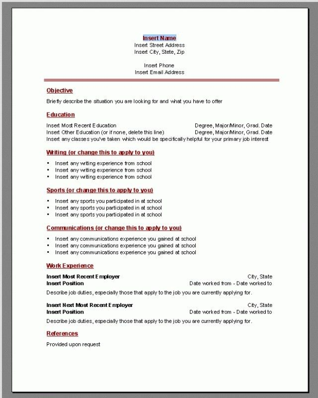 cv template using word resume microsoft 2003 office templates 3 ...