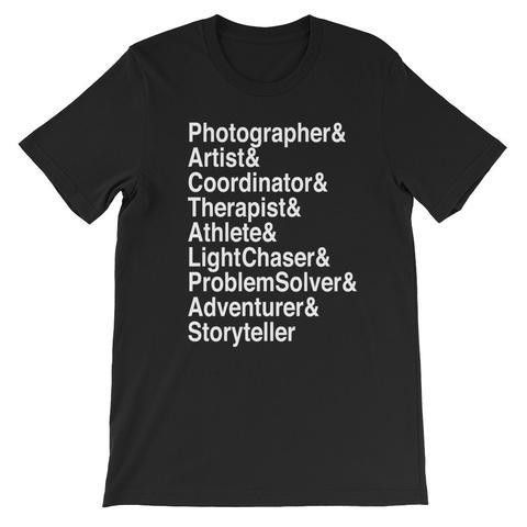 Wedding Photographer Roll-Call Shirt (11 Colors Available ...