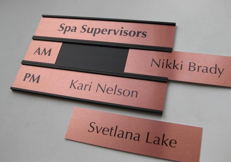 Interchangeable Name Plates | Custom Office Signs & Salon Signs