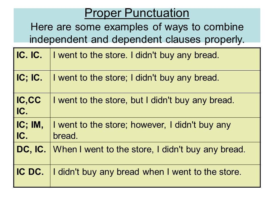 Independent and Dependent Clauses An independent clause is a group ...