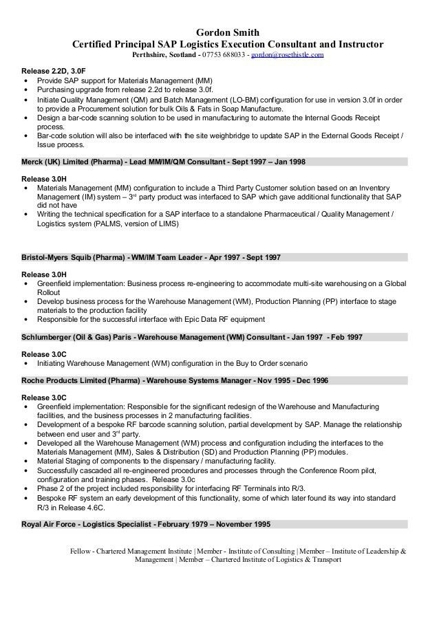 Sap Functional Consultant Cover Letter