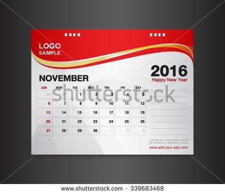 January Desk Calendar 2017 Design Template Stock Vector 438856138 ...