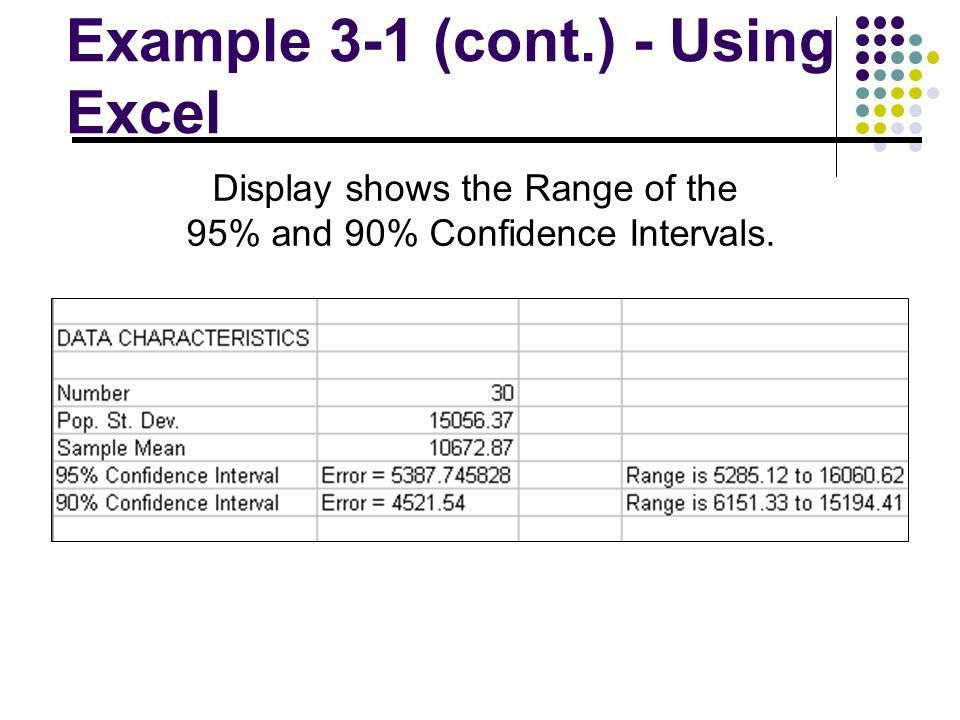 Confidence Intervals Session 3. l Using Statistics. l Confidence ...