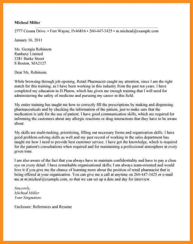 Online Pharmacist Cover Letter Video Clerk Cover Letter. Examples .