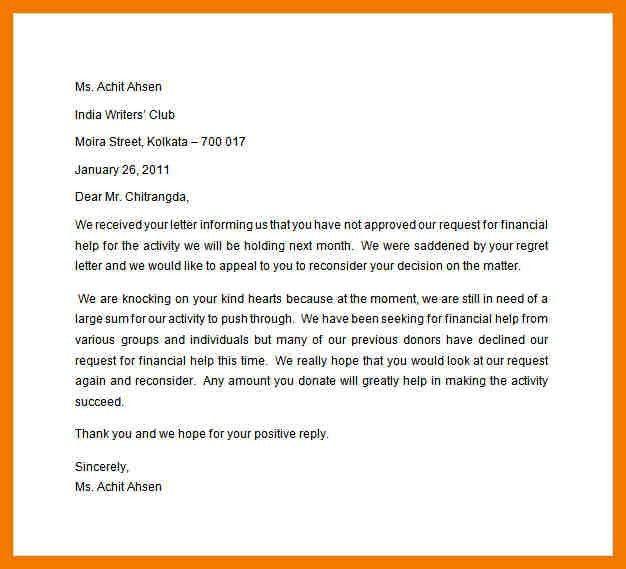 Appeal Letters. Insurance Appeal Letter Sample Appeal Letter - 8+ ...