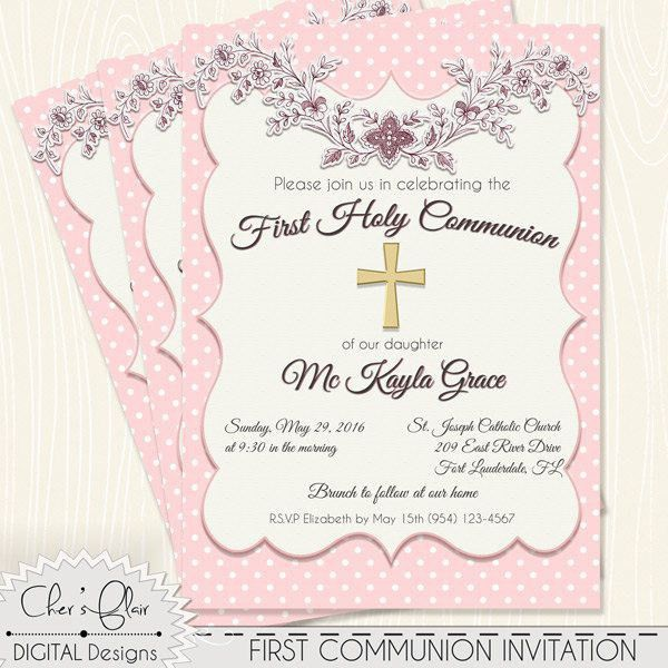 Catholic First Communion Invitations | christmanista.com