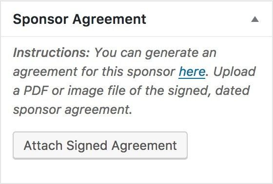 Uploading Sponsorship Agreements – Make WordPress Communities