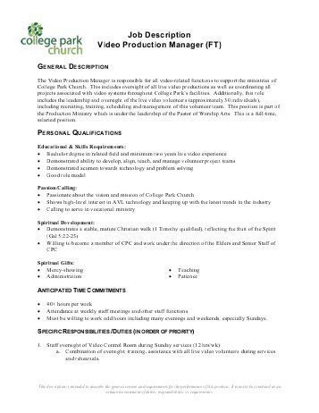 Production Manager Resume Examples. tour production manager ...