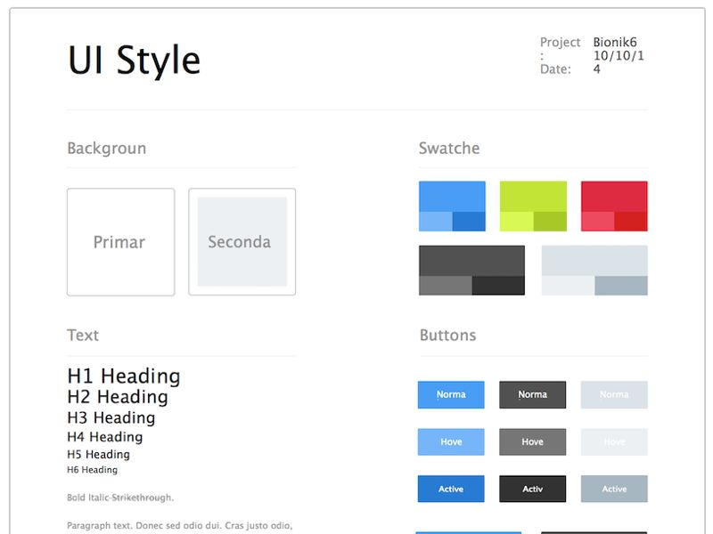 UI Style Guide Sketch freebie - Download free resource for Sketch ...