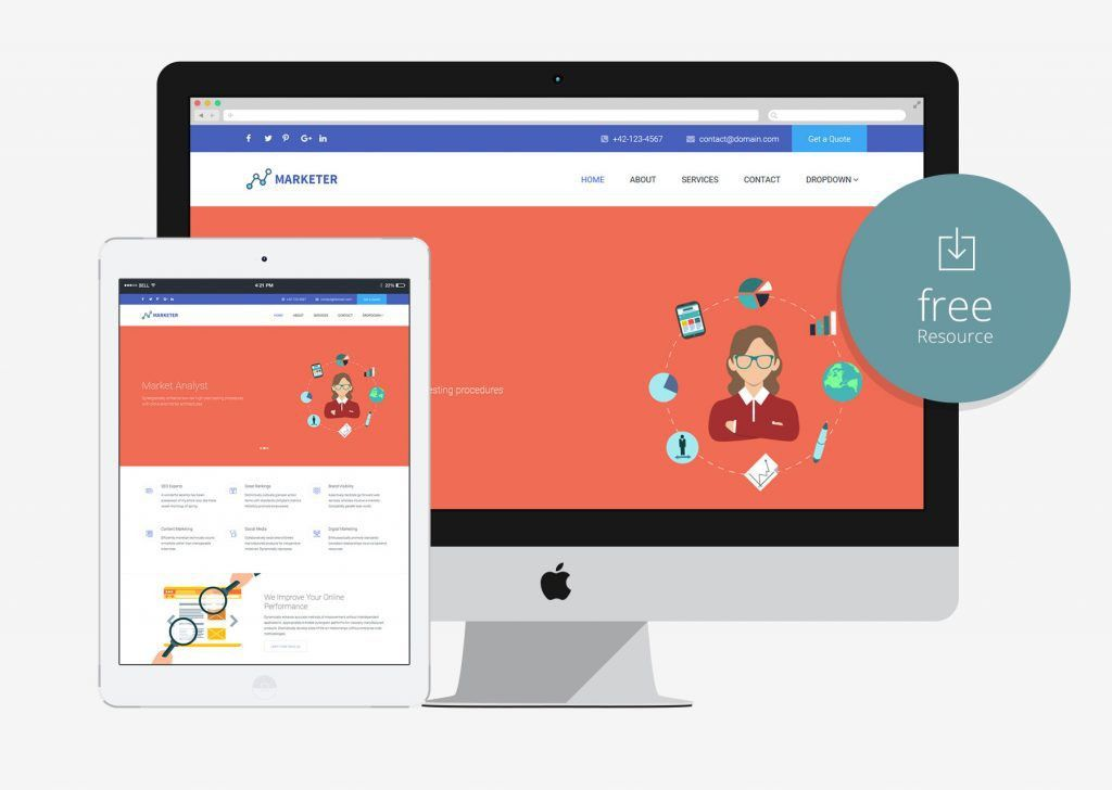 100+ Free Business Agency Bootstrap HTML5 Website Templates - 2017
