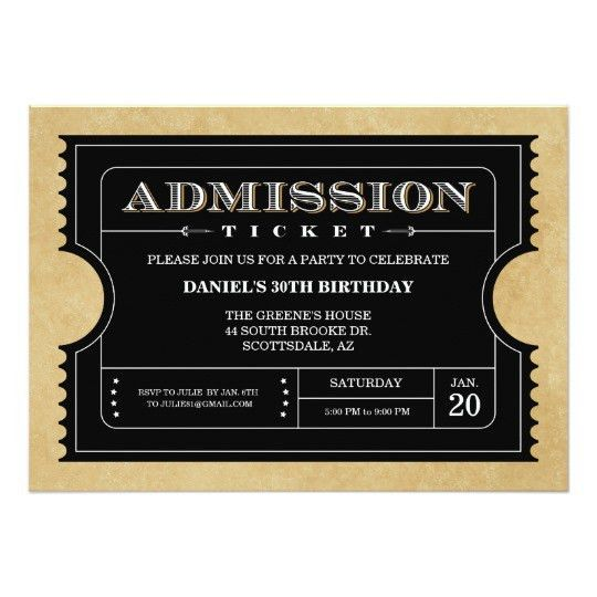 Concert Ticket Invitations & Announcements | Zazzle