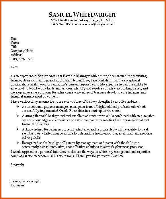 accounting cover letter | general resumes