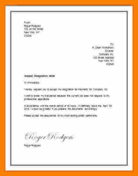 Resign Letter Format In Word Format.simple Resign Letter Format In ...