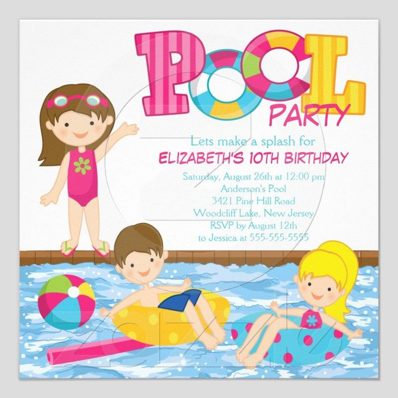 Birthday Party Invitations - Kawaiitheo.Com