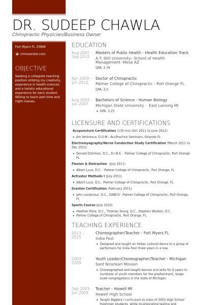Teacher Resume samples - VisualCV resume samples database