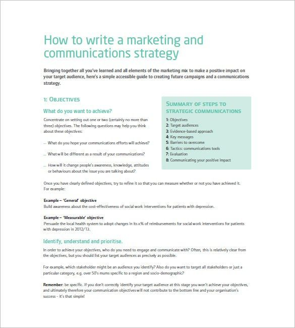 Marketing Communication Plan Template – 10+ Free Word, Excel, PDF ...
