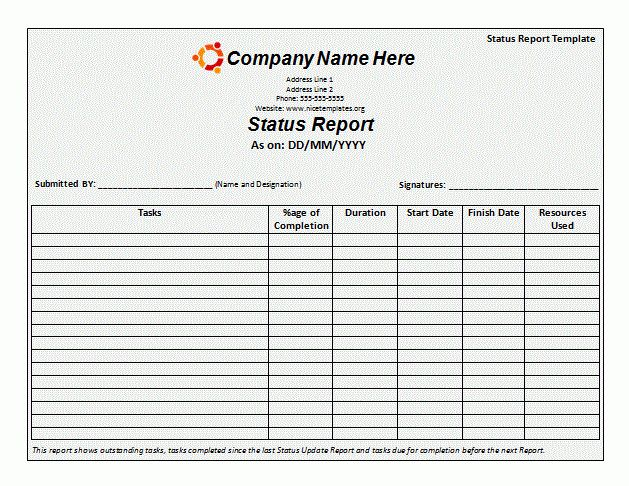 Monthly Report Template | Free Printable Word Templates,