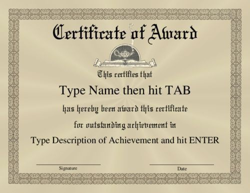 62 best Award certificates images on Pinterest | Award ...