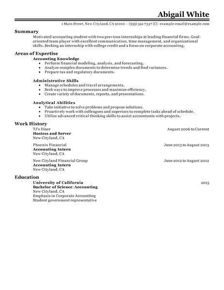 Sample Resume Internship Finance. sample resume summer internship ...