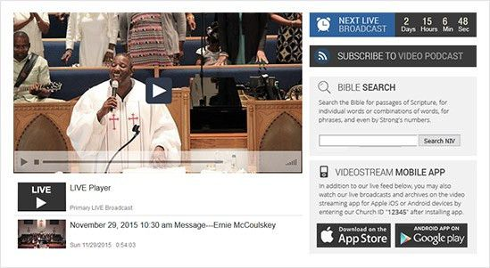 Beautiful Custom Church Websites Design | Live Video | Apps |