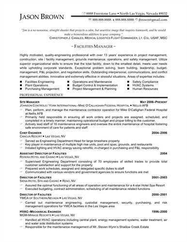 management resume examples editor cv events manager cv facilities ...