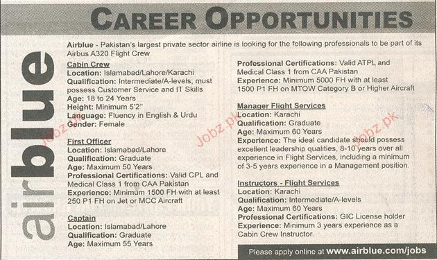 Cabin Crew, First Officer, Captain Job Opportunity 2017 Jobs ...