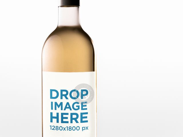Placeit - Closeup Label Template of a White Wine Bottle Against a ...