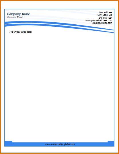 9+ company letterhead template | Job Resumes Word