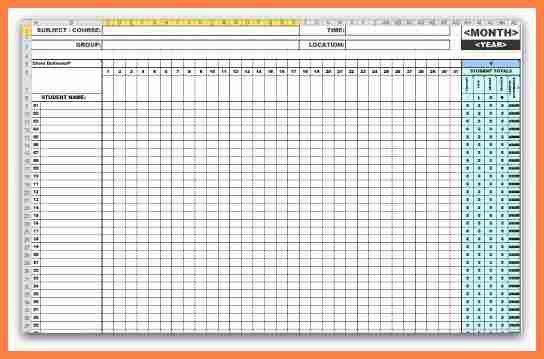 4+ attendance spreadsheet | Invoice Example 2017