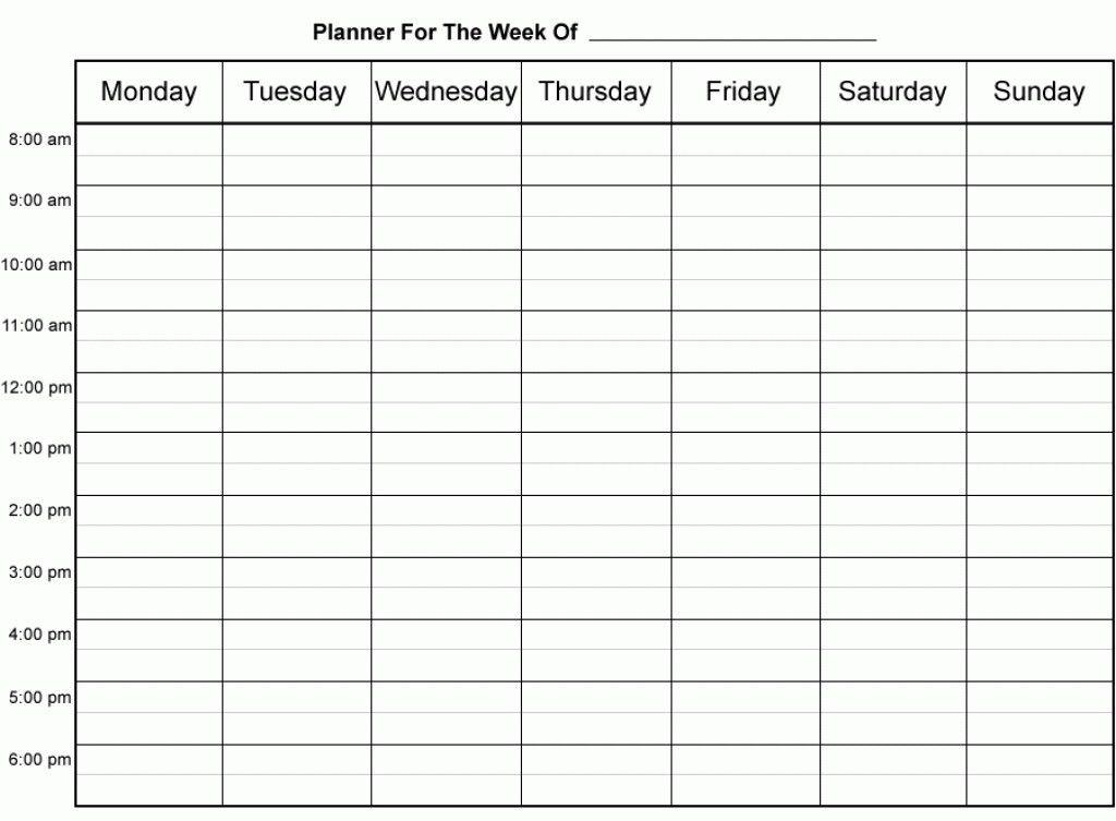 hourly week calendar